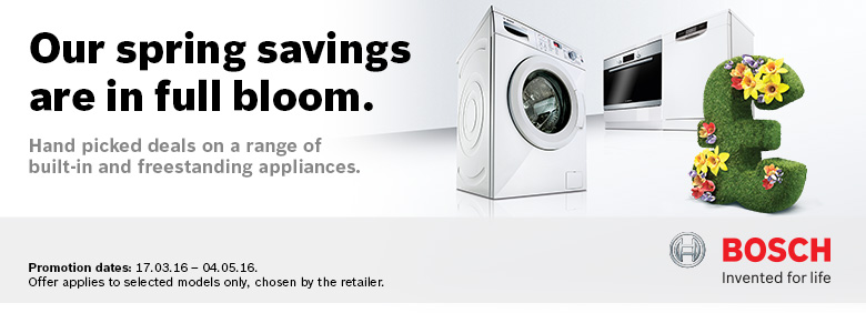Bosch Spring Sale now on at electricshop.com