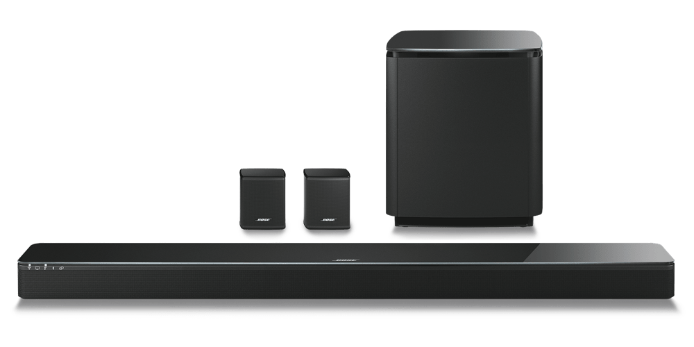 Bose SoundTouch 300 Soundbar with Acoustimass 300 and Virtually Invisible 300 Rear Speakers