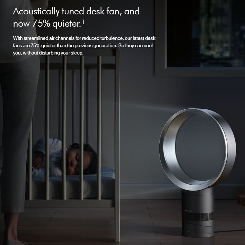 Dyson Cool 75% Quieter