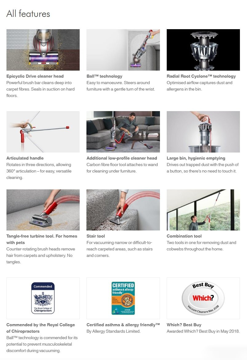 Dyson Ball Animal 2 Features