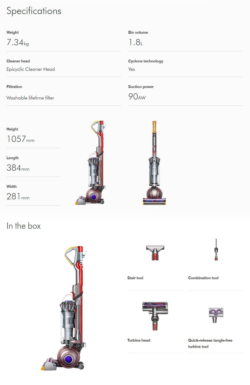Dyson Ball Animal 2 Specifications