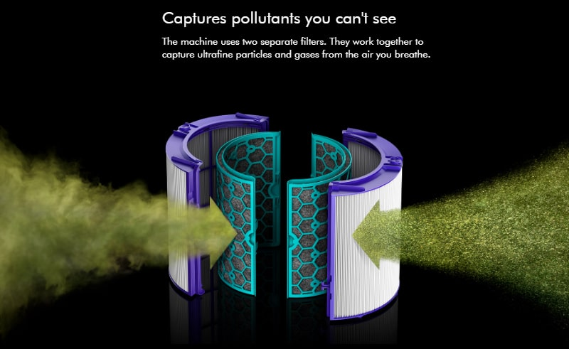 Dyson captures pollutants you can't see