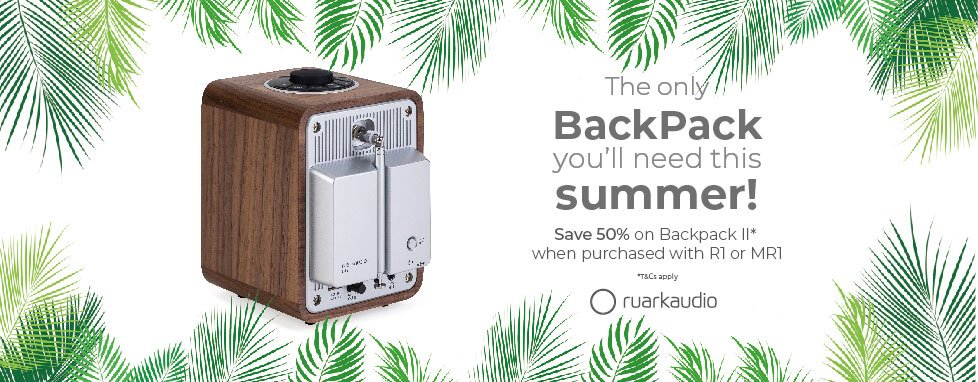 Save 50% on Ruark Audio Backpack II when purchased with R1 or MR1