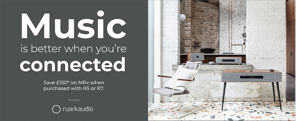 Save £150* on the MRX when purchased with Ruark R5