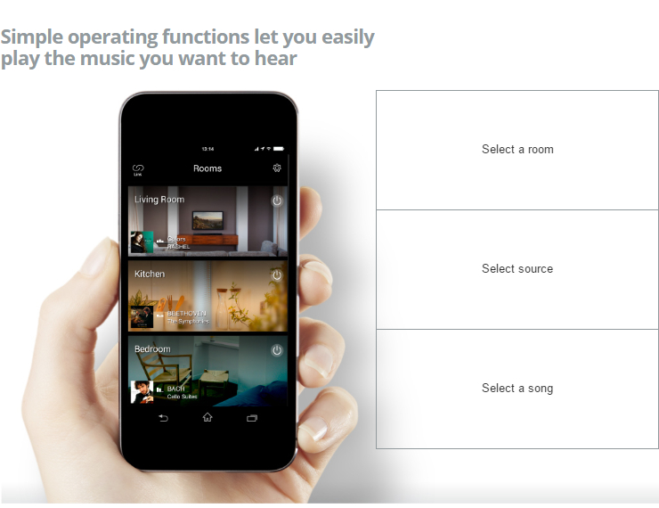 Yamaha MusicCast - Simple operating functions let you easily play the music you want to hear
