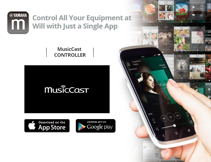 Yamaha MusicCast - control all your equipment at will with just a single app