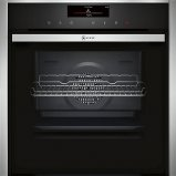 Neff B58VT68N0B Single oven Stainless steel with Slide and Hide