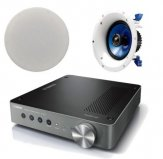 Yamaha WXA-50 Wireless Streaming Amplifier with 1 Pair of Yamaha NSIC600 In-Ceiling Speakers