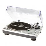 Audio Technica AT-LP120USBHC Professional Direct-Drive Turntable in Silver