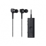 Audio Technica ATHANC100BT Wireless Active Noise Cancelling In-Ear Headphones Front View