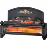 Dimplex YEO20 Yeominster 2kW Radiant Bar Electric Fire in Black with Brass Effect