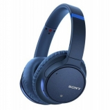 Sony WHCH700NLCE7 Noise Cancelling Over Ear Headphones with Mic Remote Blue - side