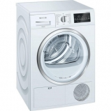 Siemens extraKlasse WT46G491GB 9kg Condenser Tumble Dryer - White - profile