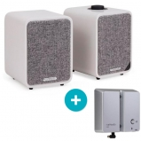 Ruark MR1 MK2 Active Bluetooth Speaker in Soft Grey with BackPack II Battery Pack