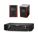 Marantz PM5005 Integrated Amplifier Black with Mission QX1 Bookshelf Speakers Pair Rosewood