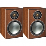Monitor Audio Bronze 1 Bookshelf Speakers in Walnut