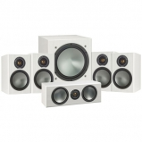 Monitor Audio Bronze 1 AV 5.1 Speaker package White Ash