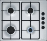 Bosch PBP6B5B60 Serie 2 60cm Gas Hob in Stainless Steel