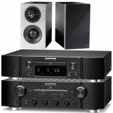 Marantz PM8006 HiFi Amplifier with ND8006 Network CD Player and Definitive Technology Demand Series D7 Bookshelf Speakers in Black