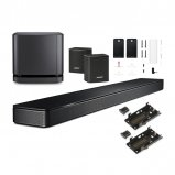 Bose Soundbar 500 with Bass Module 500 Subwoofer, Surround Speakers and Wall Brackets in Black