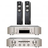 Marantz CD6006 & PM6006 UK Edition Silver with Polk S50 Speaker