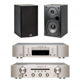 Marantz CD6006 & PM6006 UK Edition Silver with Polk T15 Speaker