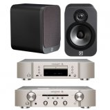 Marantz CD6006 & PM6006 UK Edition Silver & QAcoustics QA3020 Speakers
