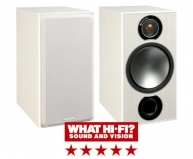 Monitor Audio Bronze 2 Bookshelf Speakers in White Ash