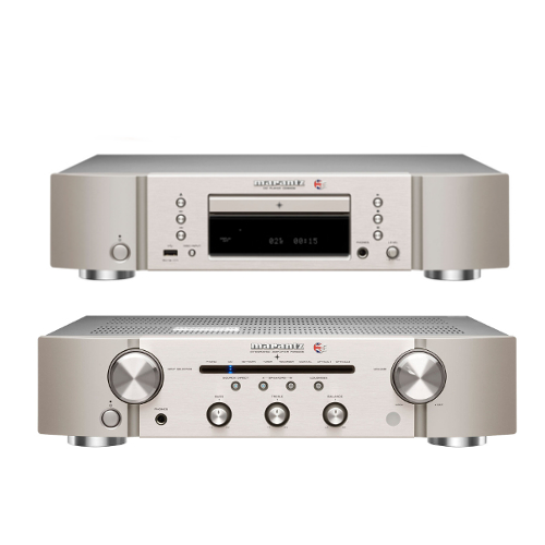 Marantz CD6006 UK Edition CD player and PM6006 UK Edition integrated amplifier with digital input in Silver