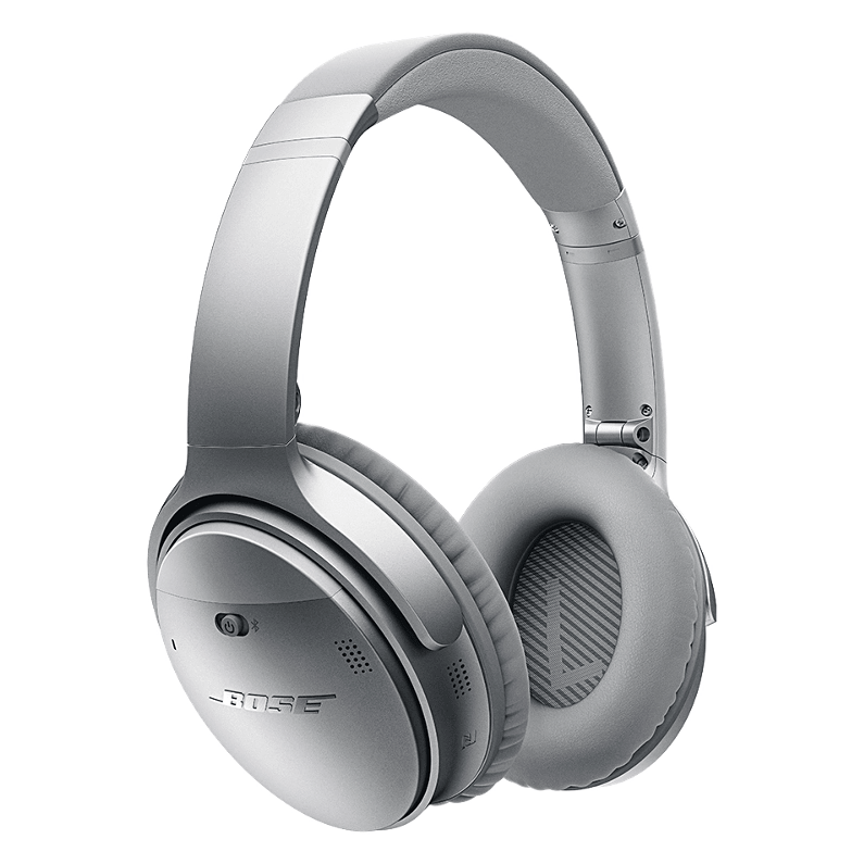 Bose QuietComfort 35 Noise Cancelling Wireless Headphones in Silver