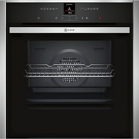 Neff B57CR22N0B Pyrolytic Slide and Hide Single Electric Oven in Stainless Steel