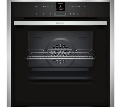 NEFF B48FT38N0B Single oven Stainless steel with Slide and Hide