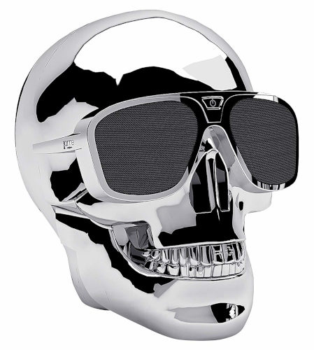 Jarre Aeroskull XS+ Bluetooth Speaker in Chrome Silver