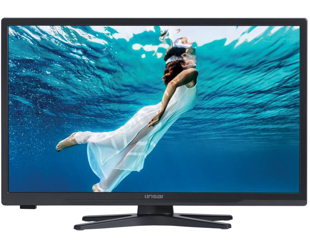 Linsar 24LED3000 24 inch HD Ready Titanium LED Smart TV with Integrated DVD Player and Freeview HD  Free 5 Year Warranty via Registration