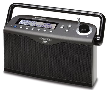 Roberts radio Classiclite DABFM RDS digital portable radio in Black