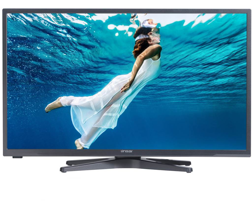 Linsar 32LED700 32 inch HD Ready Titanium LED Smart TV with Integrated DVD Player and Freeview HD  Free 5 Year Warranty via Registration