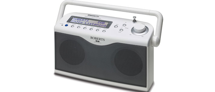 Roberts radio Classiclite DABFM RDS digital portable radio in White