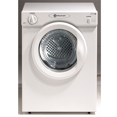 Crosslee White Knight 38AW 3Kg Compact Vented Tumble Dryer in White