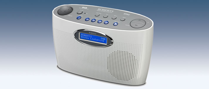 Roberts radio Elise DABFM RDS digital portable radio in White