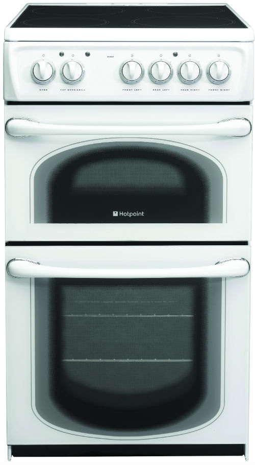 Hotpoint 50HEPS 50cm Electric Cooker with Double Oven in Polar White
