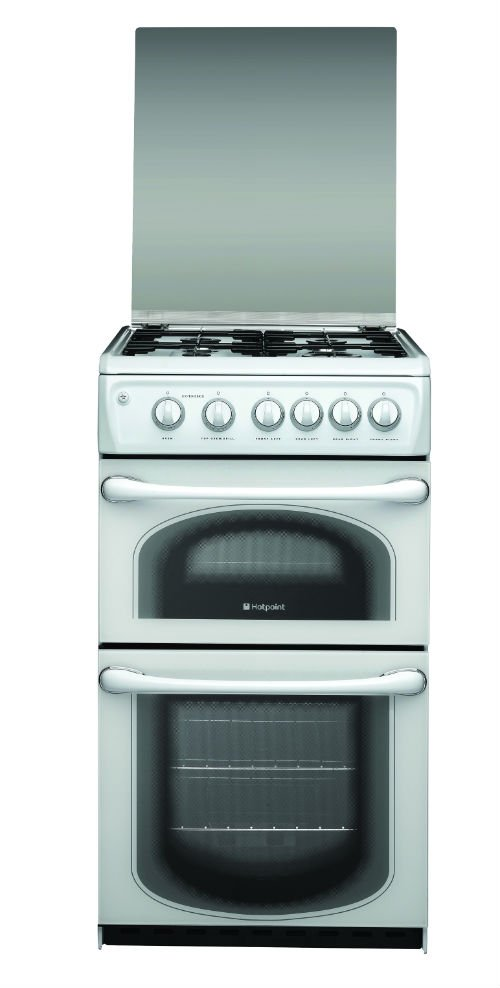 Hotpoint 50HGP 50cm Gas Double Oven in Polar White