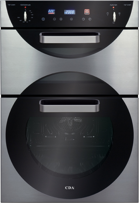 CDA 9Q6SS 60cm Electric Double Oven in Stainless Steel with With 5Yr Parts Guarantee