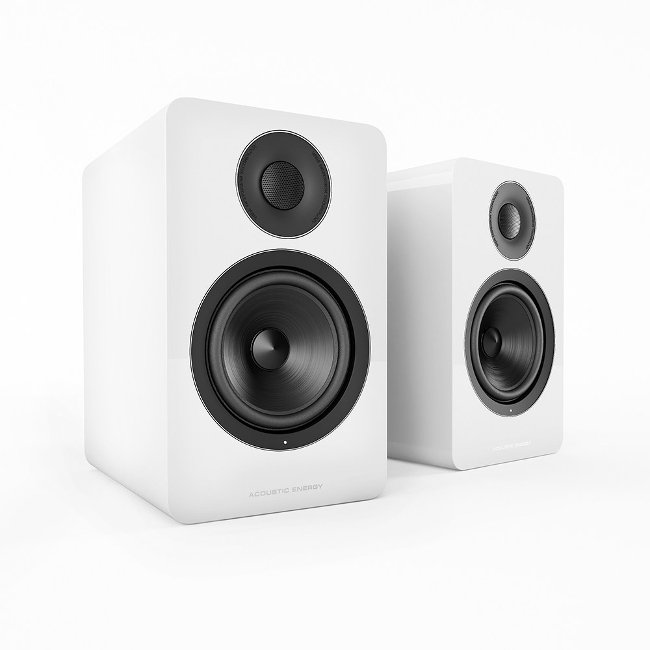 Image of Acoustic Energy AE300 Piano Gloss White Speakers