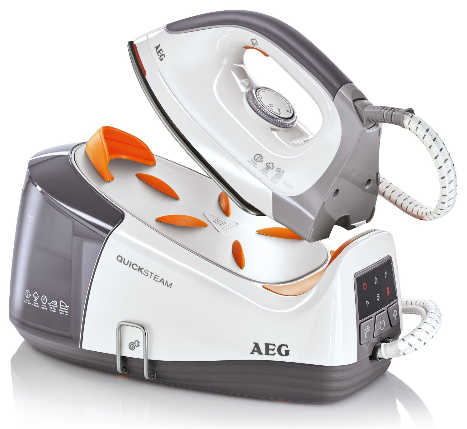 AEG DBS3350U 2350W Quick Steam Generator Iron in White and Silver (DBS3350)