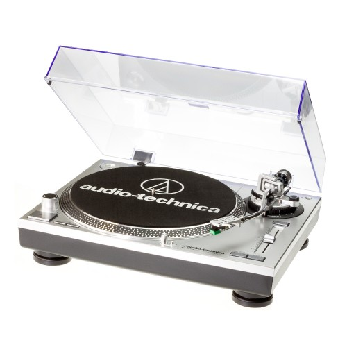 Image of Audio Technica AT-LP120USBHC Professional Direct-Drive Turntable in Silver