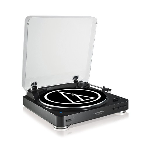 Image of Audio Technica AT-LP60BKBT Fully Automatic Wireless Belt-Drive Stereo Turntable in Black
