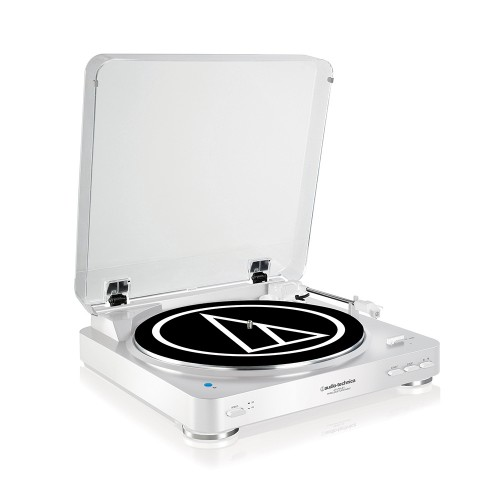 Image of Audio Technica AT-LP60WHBT Fully Automatic Wireless Belt-Drive Stereo Turntable in White
