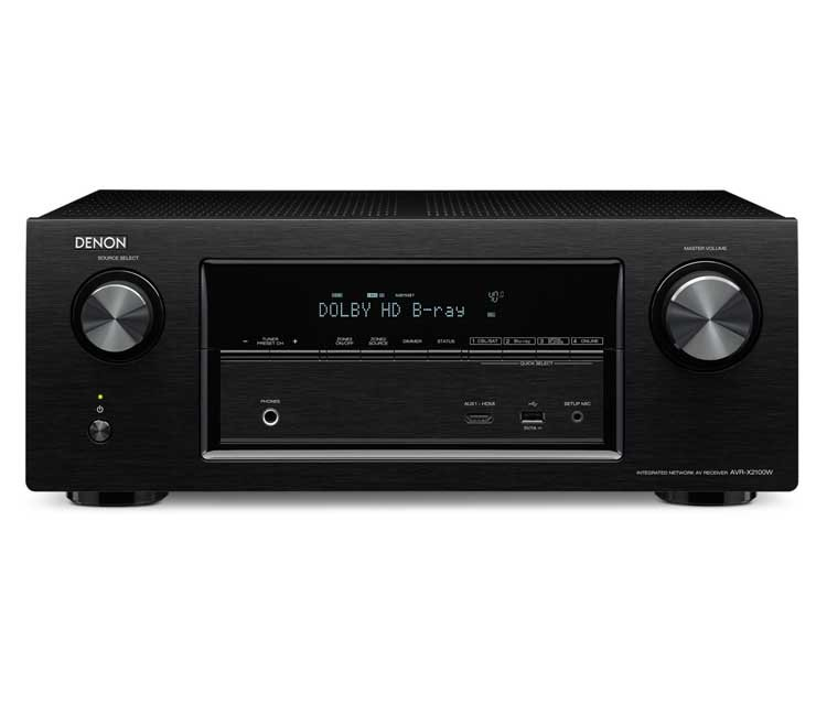 Denon AVRX2100W 7.2CH Network Receiver With Bluetooth Airplay Spotify And 4K In Black