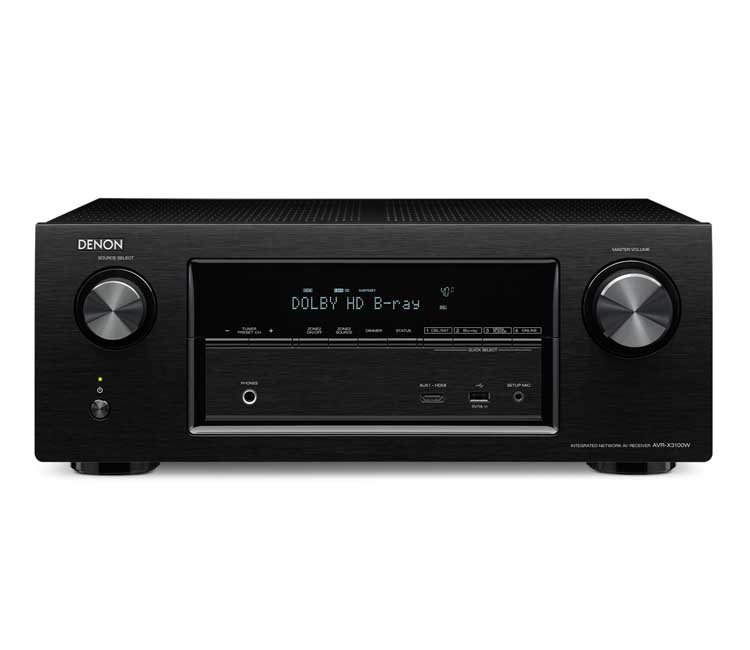 Denon AVRX3100W 7.2CH Network Receiver With Bluetooth Airplay Spotify And 4K In Black