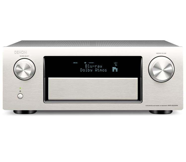 Denon AVRX5200WS 9.2CH Network Receiver With Bluetooth Airplay Spotify And 4K In Silver